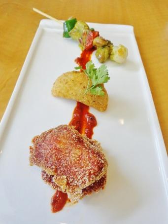 From Top: Chicken Cafreal, Rissois de Camarao, Rawa Fried Fish