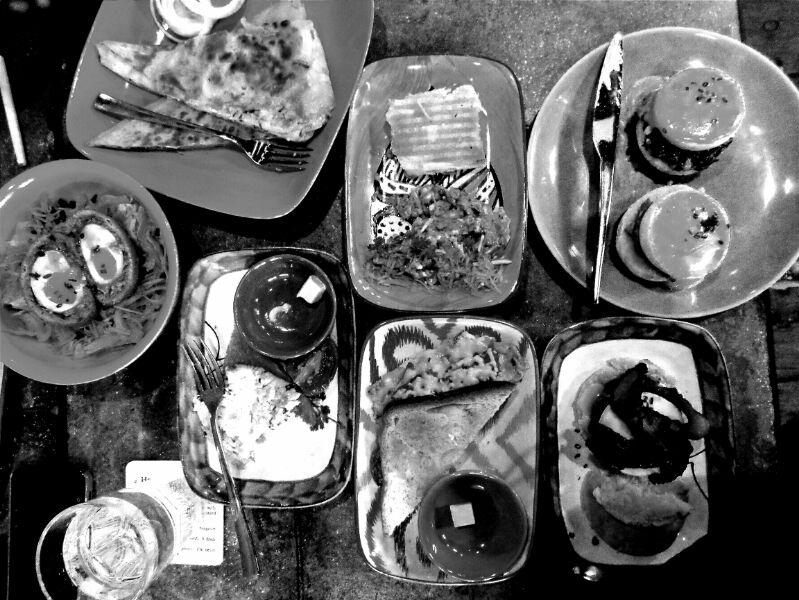 The egg-licious spread at Monkey Bar