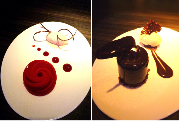 Raspberry Delice and Milk Chocolate Praline