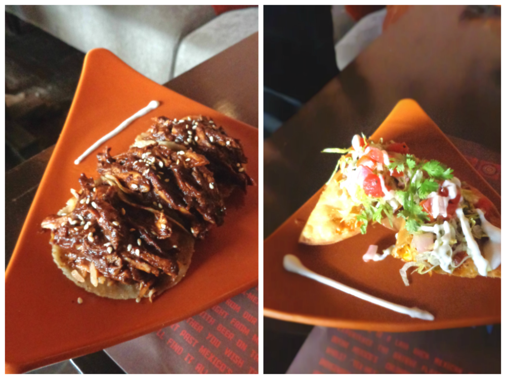 Mexican Chocolate and Chilli Taquito and Vegetable Chimchanga