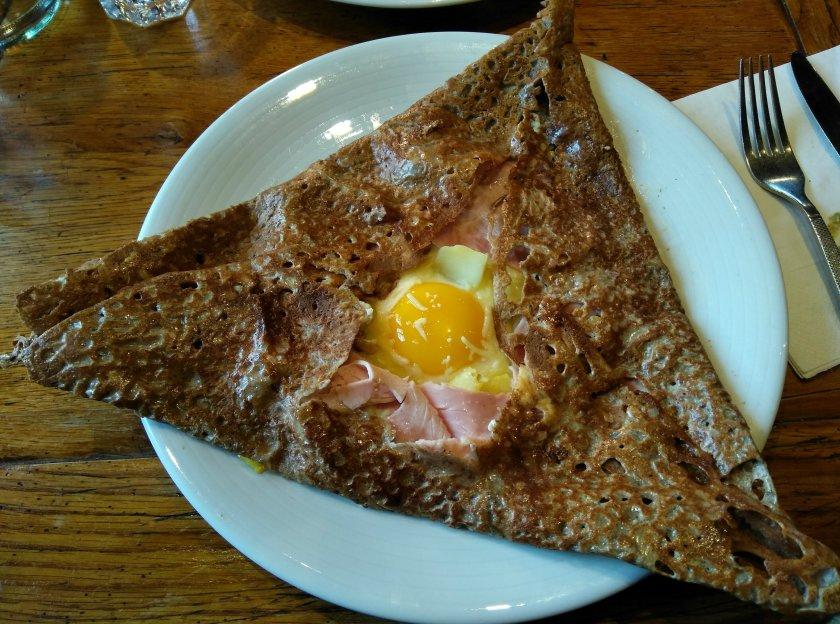 Egg and Ham Stuffed Galette